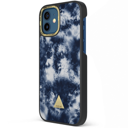 Apple iPhone 12 Printed Case - Tie Dye Blue